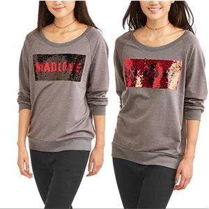 Batman Mad Love  Reversible Sequin Sweatshirt